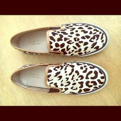 Kurt Geiger leopard print hair calf sneakers Adorable London-based brand Kurt Geiger leopard print hair calf (pony hair) slip-on sneakers. Women's size 7. Bought in London. Not found in US. Gently worn. Kurt Geiger Shoes Sneakers