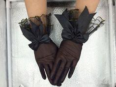 curta moda bow luvas de casamento preto noiva luvas wrist luvas pará noivas
