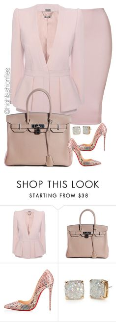 """Untitled #2189"" by highfashionfiles ❤ liked on Polyvore featuring Alexander McQueen, Hermès, Christian Louboutin and Kate Spade"