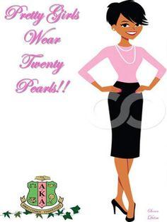 Pretty Girls #20 Pearls #AKA | AKA Clip Art and/or Crafts | Pinterest