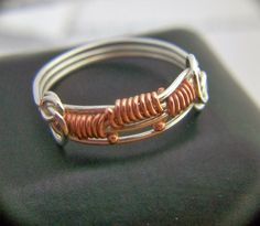York Avenue Studio's Blog: Bold Copper Weave Stack Ring Tutorial How To