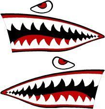 "10"" P40 WARHAWK MOTORCYCLE DECAL KIT sticker p 41 p-40 war hawk shark mouth"