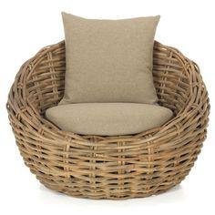 Canapé en tissu coton et rotin de kubu | fauteuil | Pinterest | Salons