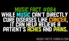 True. I use music all the time for my agitated patients. #musicfacts #cure