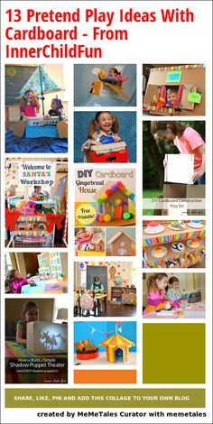 13 Pretend Play Ideas With Cardboard - From InnerChildFun