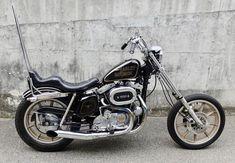 1978 XLH アイアン ショベル スポーツスター ロングフォーク ブラック | Nice! Motorcycle