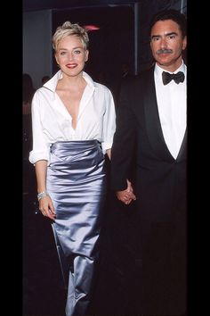 Sharon Stone's look at the 1998 Academy Awards. One of my favorite last minute looks. The other was her Gap turtleneck moment. You can't tell Pisces shit when their minds are set (e.g., Rihanna). And it works!