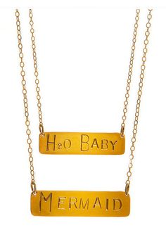 Kat Davis Jewelry - Mermaid & H20 Baby Bar Necklace