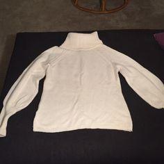 NWOT Anne Taylor Loft white wool sweater No tags, never worn wool sweater LOFT Sweaters Cowl & Turtlenecks