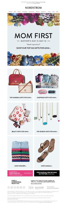 Nordstrom - Mother's Day Handbags, Sleepwear & More Top Gifts