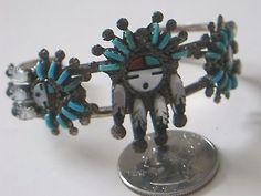 Zuni Bracelet Sterling Silver Leekity Vintage Turquoise Mother of Pearl | eBay