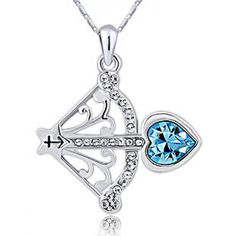 Sagittarius Pendant Necklace with my birthstone I LOVE this