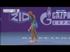 Natalia Vikhlyantseva vs Kristina Mladenovic Petersburg 2017 Semi-Final ...