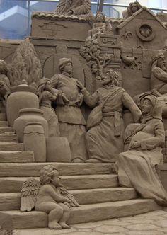 'NO ROOM AT THE INN' Sand Sculpture By: Dan Belcher