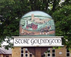 Stoke Goldington, Buckinghamshire. / 'Stoke' derives from OE 'stoc' which means 'place.' It came to be used in the context of either a religious or a secondary settlement. The affix 'Goldington' refers to Peter of Goldington (Bedfordshire) who was the principal tenant in the village in medieval times. Town Names, English Village, Pub Signs, Place Names, Medieval Times, Decorative Signs, Great Britain, Coffee Shop, Countryside
