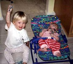 "Oh, hell no!! LOL! ""You can learn alot from children. How much patience you have, for instance!"" Telling life stories is not just for grandmas. Why not start telling your stories now…finding out you're pregnant & those exciting 9 mths. How about baby's 1st yr? What an awesome gift to give your baby when they grow up…a life story already told, for them to continue on with. For each birthday picture, connect it with a story about how they've grown (in your own voice)…"