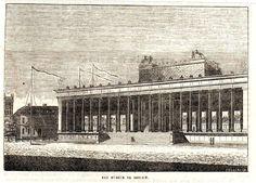 Antique print Berlin Museum 1840 holzstich