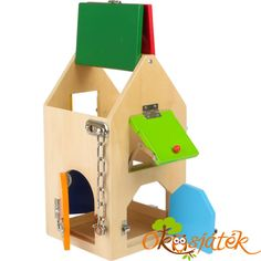 Small Foot Wooden Toys Big House Of Locks Playset Big Houses, Play Houses, Peppa Pig Treehouse, Toy Playhouse, Door Chains, Toy House, Wooden House, Toy Craft, Learning Toys
