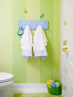 Cute idea for painting frogs bathroom