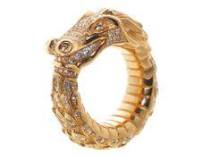 Ring UROBOROS - gold, diamonds (full cut)