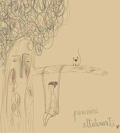 pensieri altalenanti Matilde S. - Mate' Visual Artist - studiomatepiumate.tumblr.com