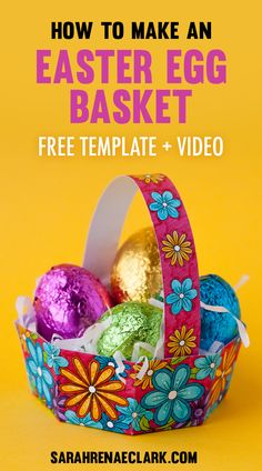 How to make a mini easter gift bag easter gift bags easter and how to make an easter egg basket negle Gallery