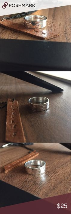Hammered Sterling silver ring size 7 Solid Sterling silver, shop with confidence  our jewelry is stamped 925 for the quality assurance  #Sterlingsilver #Jewelry #Imperfectdivine Jewelry Rings