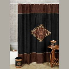 Suede Look Shower Curtain