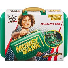WWE Wrestling Money in the Bank Collector Case [Green Version] Undertaker Brock Lesnar, Page Wwe, Wwe Toys, Wwe Action Figures, Money In The Bank, Wwe Superstars, Toys For Boys, The Collector, Wrestling