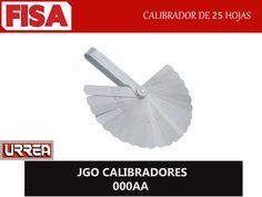 JGO CALIBRADORES 000AA. Calibrador de 25 hojas- FERRETERIA INDUSTRIAL -FISA S.A.S Carrera 25 # 17 - 64 Teléfono: 201 05 55 www.fisa.com.co/ Twitter:@FISA_Colombia Facebook: Ferreteria Industrial FISA Colombia