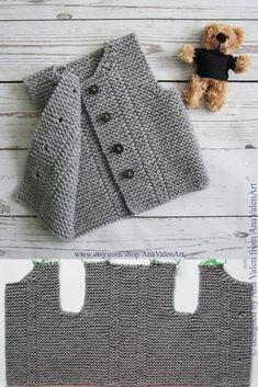 Love Knitting, Baby Boy Knitting Patterns, Baby Patterns, Knit Patterns, Clothing Patterns, Hand Knitting, Knitting Ideas, Baby Cardigan, Crochet Cardigan