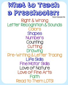 What To Teach a Preschooler : Homeschool Preschool The Effective Pictures We Offer You About Preschool lesson plans A quality picture can tell you many things. You can find the most beautiful pictures Preschool Lesson Plans, Preschool At Home, Preschool Kindergarten, Toddler Preschool, Homeschool Preschool Curriculum, Preschool Teachers, Pre K Homeschool Curriculum, Preschool Assessment, Preschool Rooms