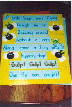 Bug Poem cute for circle time in pre-k Preschool Songs, Preschool Literacy, Kindergarten Teachers, Kids Songs, Preschool Activities, Insect Activities, Bug Songs, Pool Activities, Silly Songs
