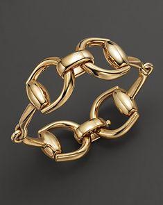 Yellow Gold Horsebit Bracelet - Gucci Bracelet - Ideas of Gucci Bracelet - Gucci Horse Bit Bracelet