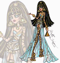Hayden Williams Fashion Illustrations: Monster High 'Royally Under Wraps' Cleo de Nile by Hayden Williams