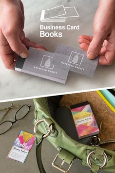 No more fumbling for business cards, or having cards with bent corners. NEW Business Card Books™ from Avery WePrint™ make your professional business cards easy to carry and share!
