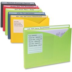 C-Line Write-On Poly File Jackets, Straight Tab, Letter Size, Assorted Colors, – Office Organization At Work Dollar Tree Organization, Office Organization At Work, File Organization, Medicine Organization, Home Business Organization, Moorim School, Organizing Paperwork, Organizing Paper Clutter, Organizing Ideas