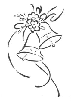 Wedding bells coloring pages ~ Pinterest