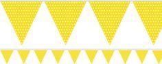Yellow Polka Dot Paper Bunting - 1.7m