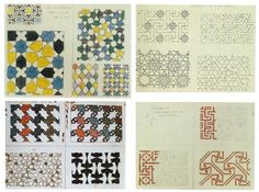 M.C. Escher's notes concerning Moorish tile work at the Alhambra in Spain