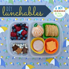 DIY Lunchables packed in @EasyLunchboxes
