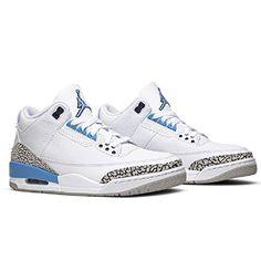 Nike Air Jordan 3 III Retro UNC 2020 University Blue CT8532-104 US Size 10.5 Best Soccer Shoes, Best Soccer Cleats, Turf Shoes, University Blue, Indoor Soccer, Air Jordan 3, Jordan Retro, S Star, Nike Air
