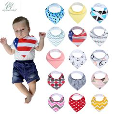 Boys' Baby Clothing Bandana Stylish Cotton Blend Baby Bib For Infants Baby Girls For 3 Months To 3 Years Self Feeding Care At Any Cost Bibs & Burp Cloths