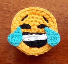 Set of 3 Crochet Emoji Magnets by StringTheoryC on Etsy Crochet Cactus, Crochet Motif, Crochet Toys, Crochet Appliques, Knot Cushion, Knitting Patterns, Crochet Patterns, Crochet Projects, Just For You