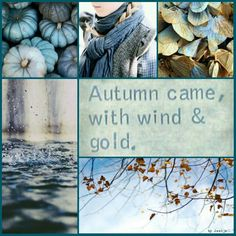 Autumn blues.