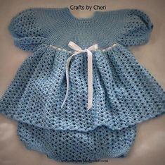 Crochet Baby Dress Crochet Baby Dress Cheri's Crochet Baby Dress, Diap...