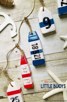 DIY - Little wooden buoys - Summer decor