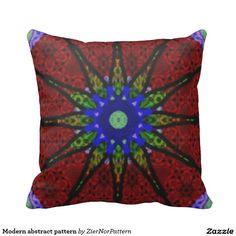 Modern abstract pattern pillow