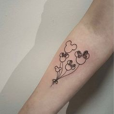 Subtle Disneyland tattoo by Michela Bottin. disney disneyland castle waltdisney MichelaBottin mickeymouse