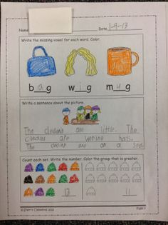 Morning Work samples PLUS FREEBIE! (includes language arts and math)